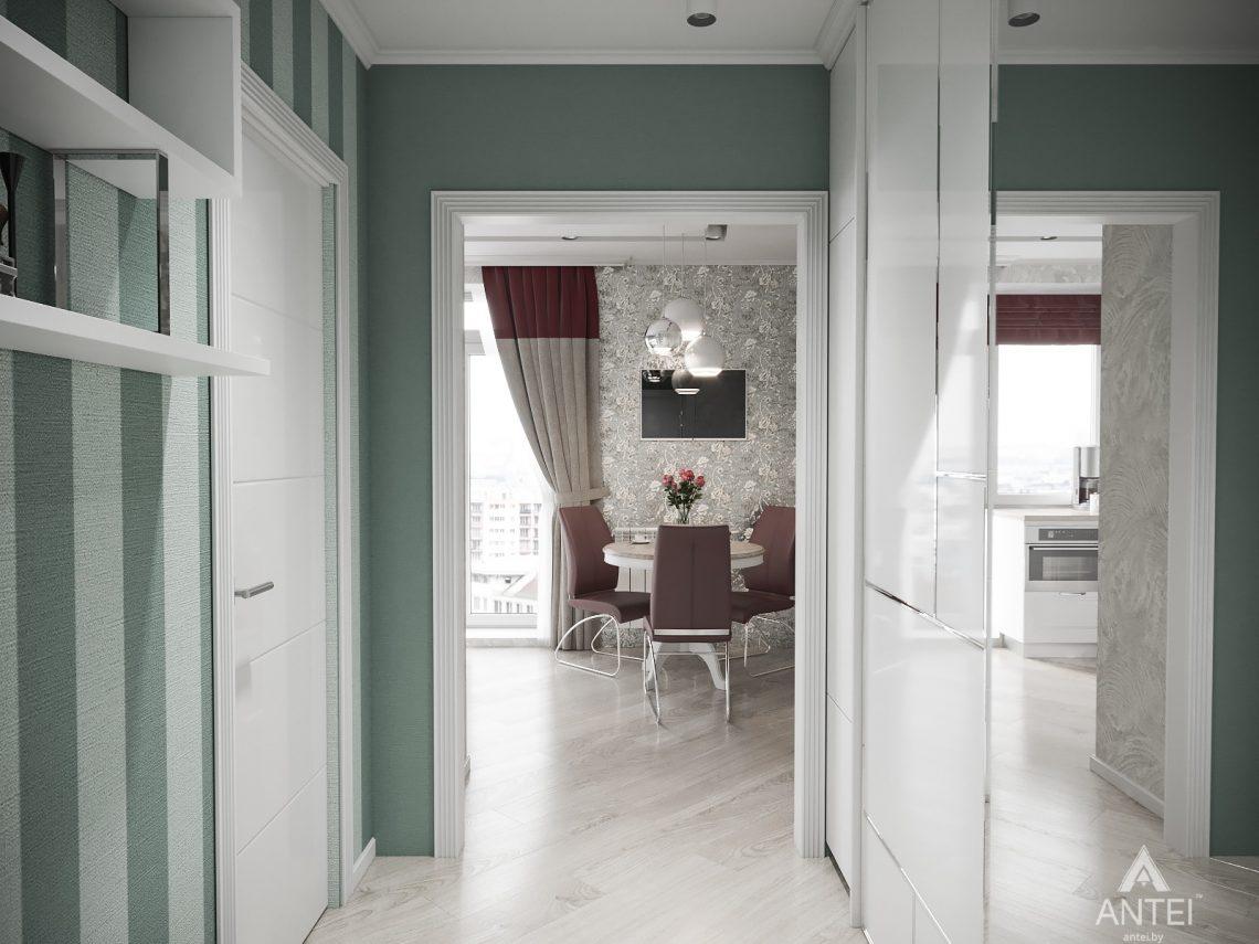 Дизайн интерьера однокомнатной квартиры в Минске - прихожая №2