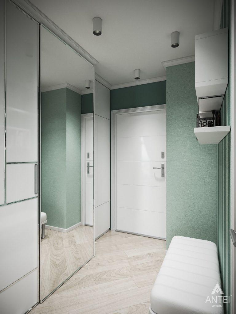 Дизайн интерьера однокомнатной квартиры в Минске - прихожая №1