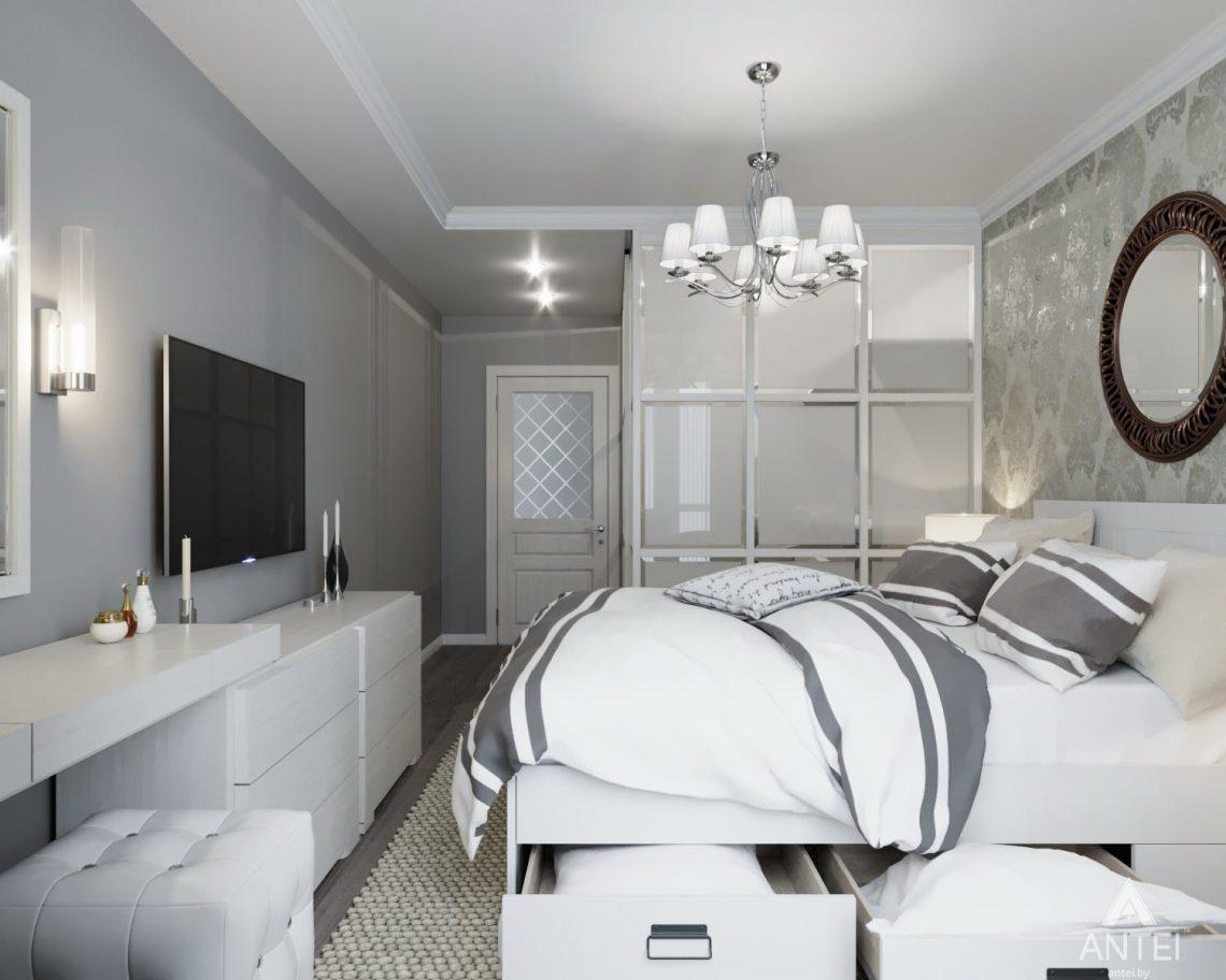 Дизайн интерьера квартиры в Гомеле, ул. Жемчужная - спальня фото №1