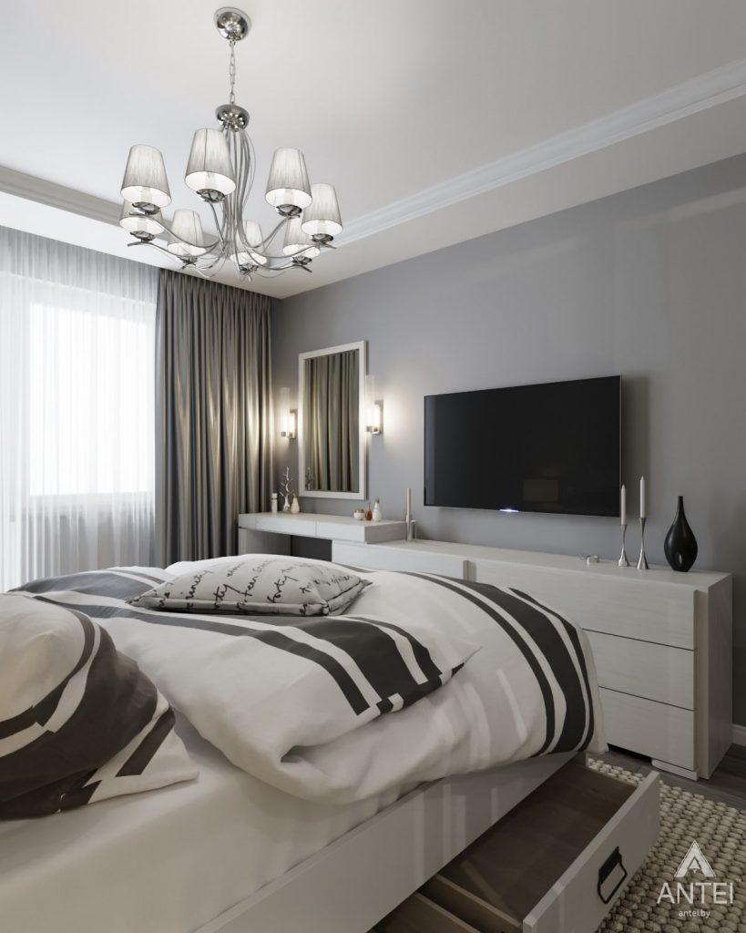 Дизайн интерьера квартиры в Гомеле, ул. Жемчужная - спальня фото №2