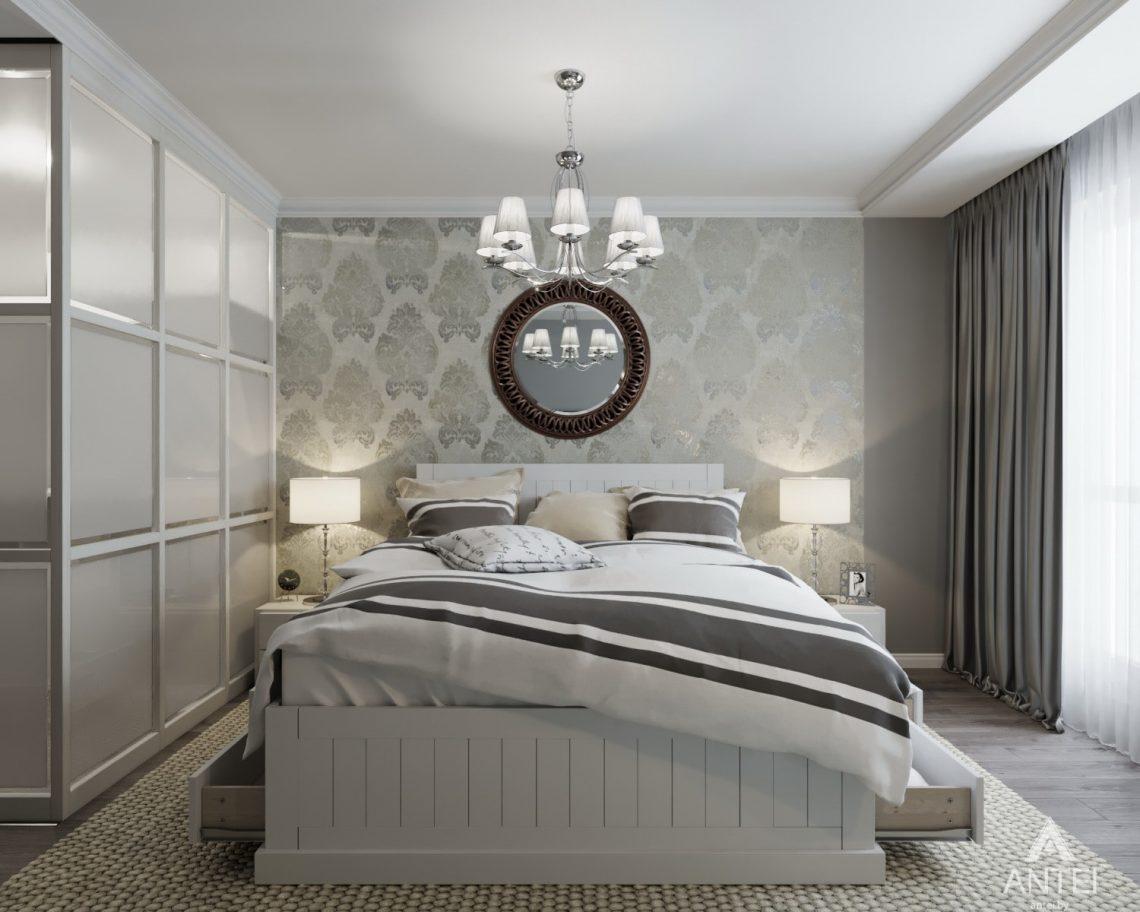 Дизайн интерьера квартиры в Гомеле, ул. Жемчужная - спальня фото №3