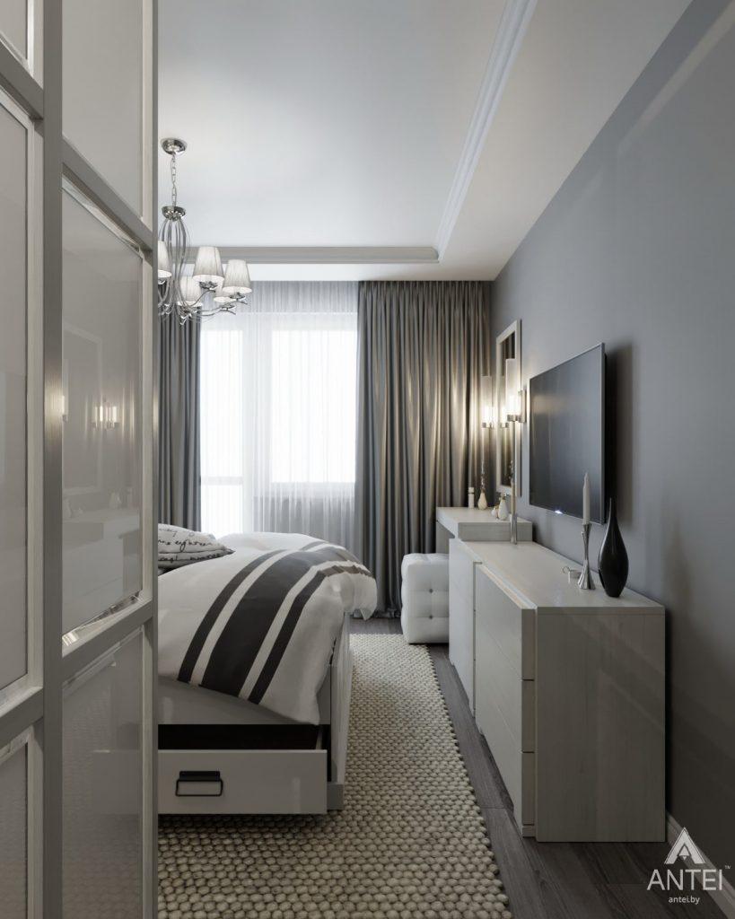 Дизайн интерьера квартиры в Гомеле, ул. Жемчужная - спальня фото №4