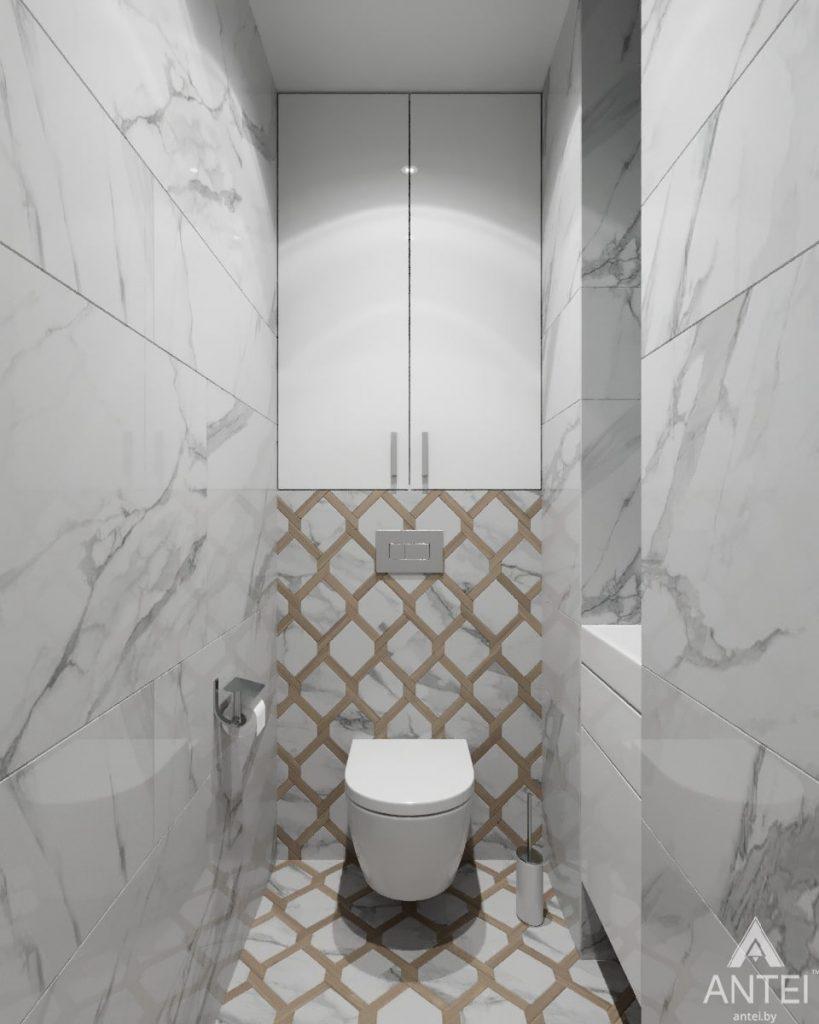 Дизайн интерьера квартиры в Гомеле, ул. Жемчужная - туалет фото №1