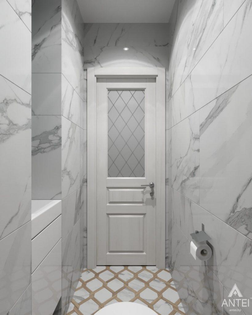 Дизайн интерьера квартиры в Гомеле, ул. Жемчужная - ванная фото №4