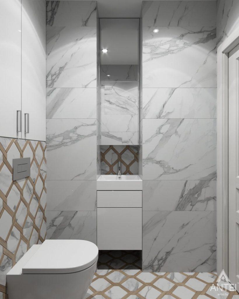 Дизайн интерьера квартиры в Гомеле, ул. Жемчужная - туалет фото №2