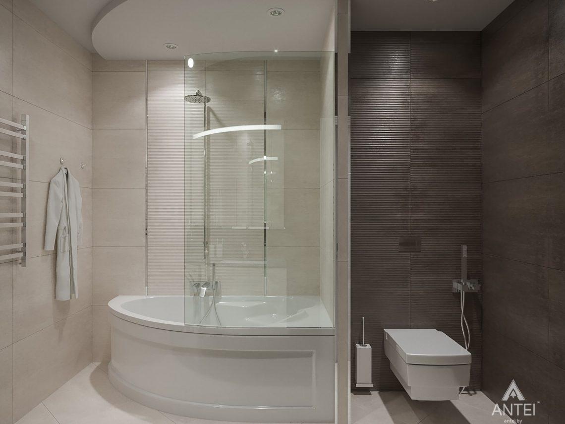 Дизайн интерьера однокомнатной квартиры в Минске - Ванная №2