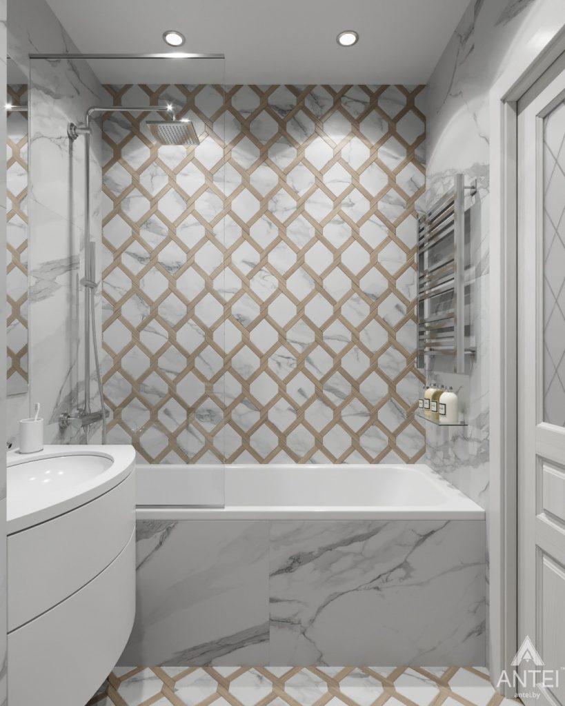 Дизайн интерьера квартиры в Гомеле, ул. Жемчужная - ванная фото №3