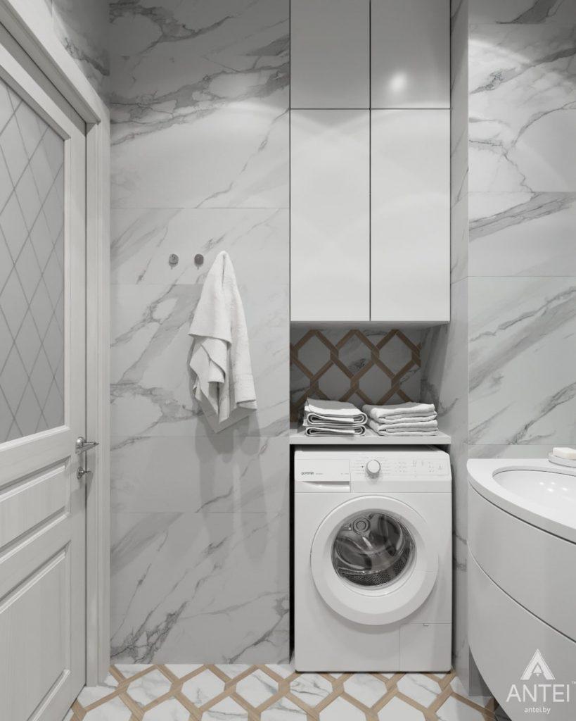 Дизайн интерьера квартиры в Гомеле, ул. Жемчужная - ванная фото №5