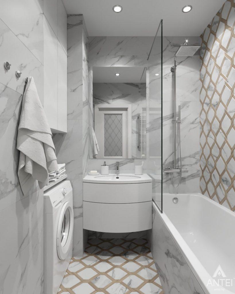 Дизайн интерьера квартиры в Гомеле, ул. Жемчужная - ванная фото №2