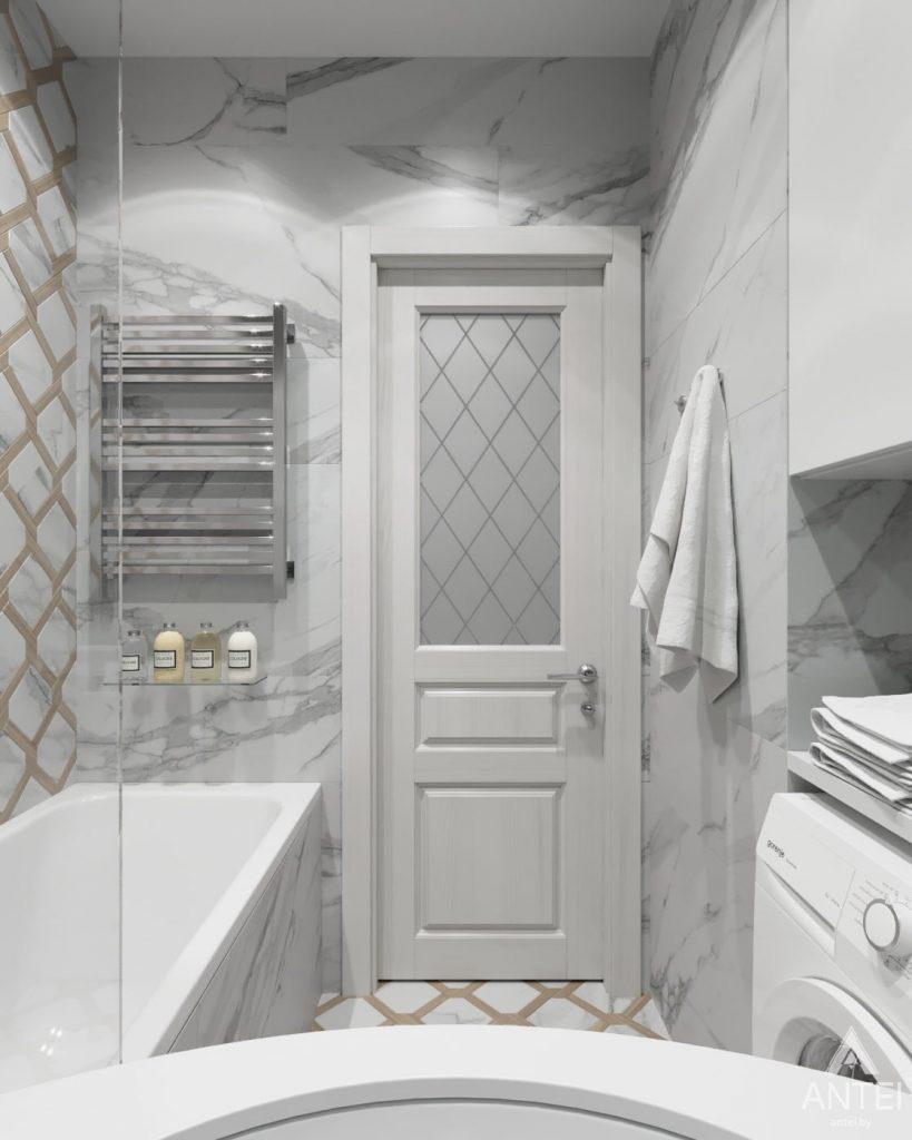 Дизайн интерьера квартиры в Гомеле, ул. Жемчужная - ванная фото №1