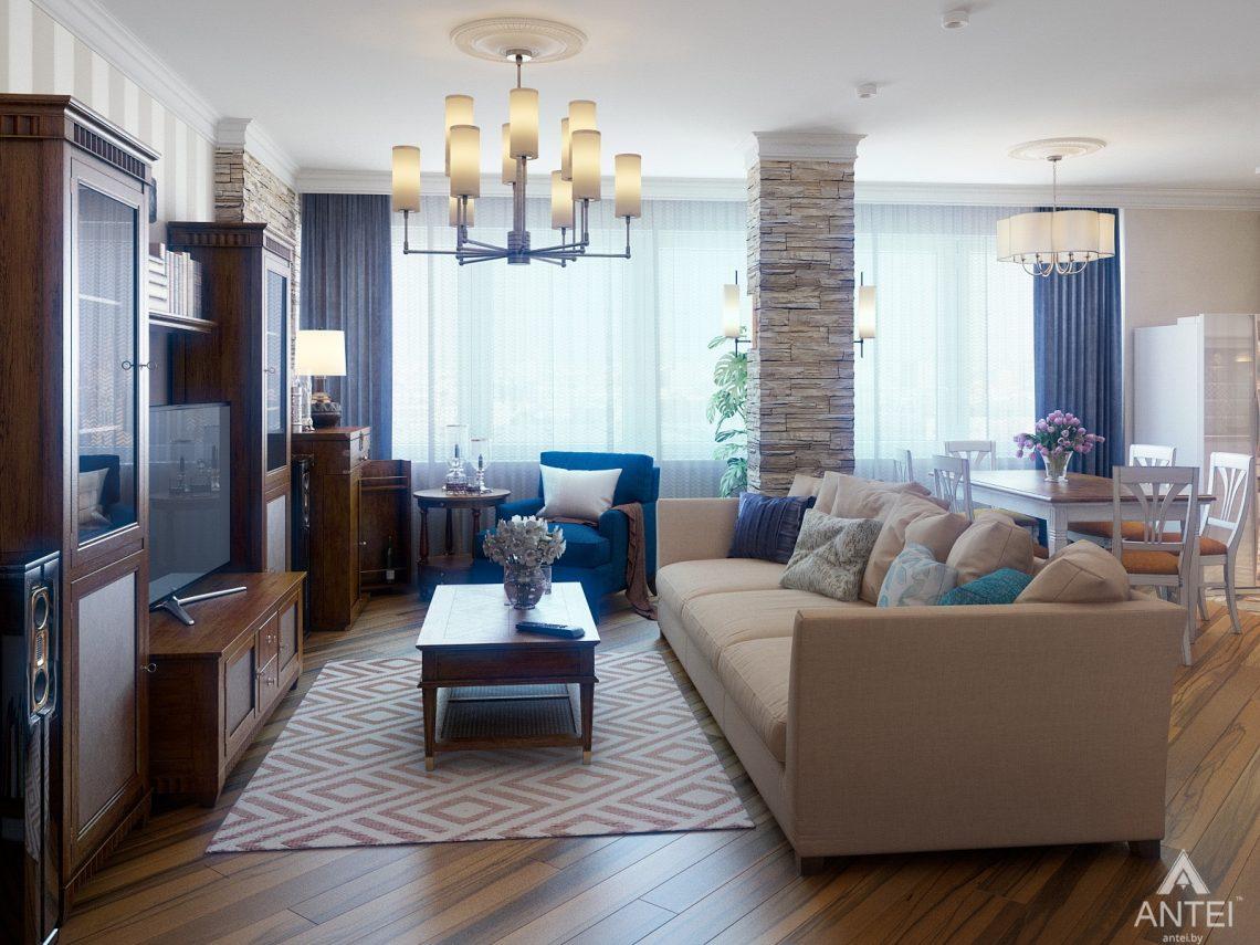Дизайн интерьера квартиры в Минске, р-н Лебяжий - гостиная фото №2