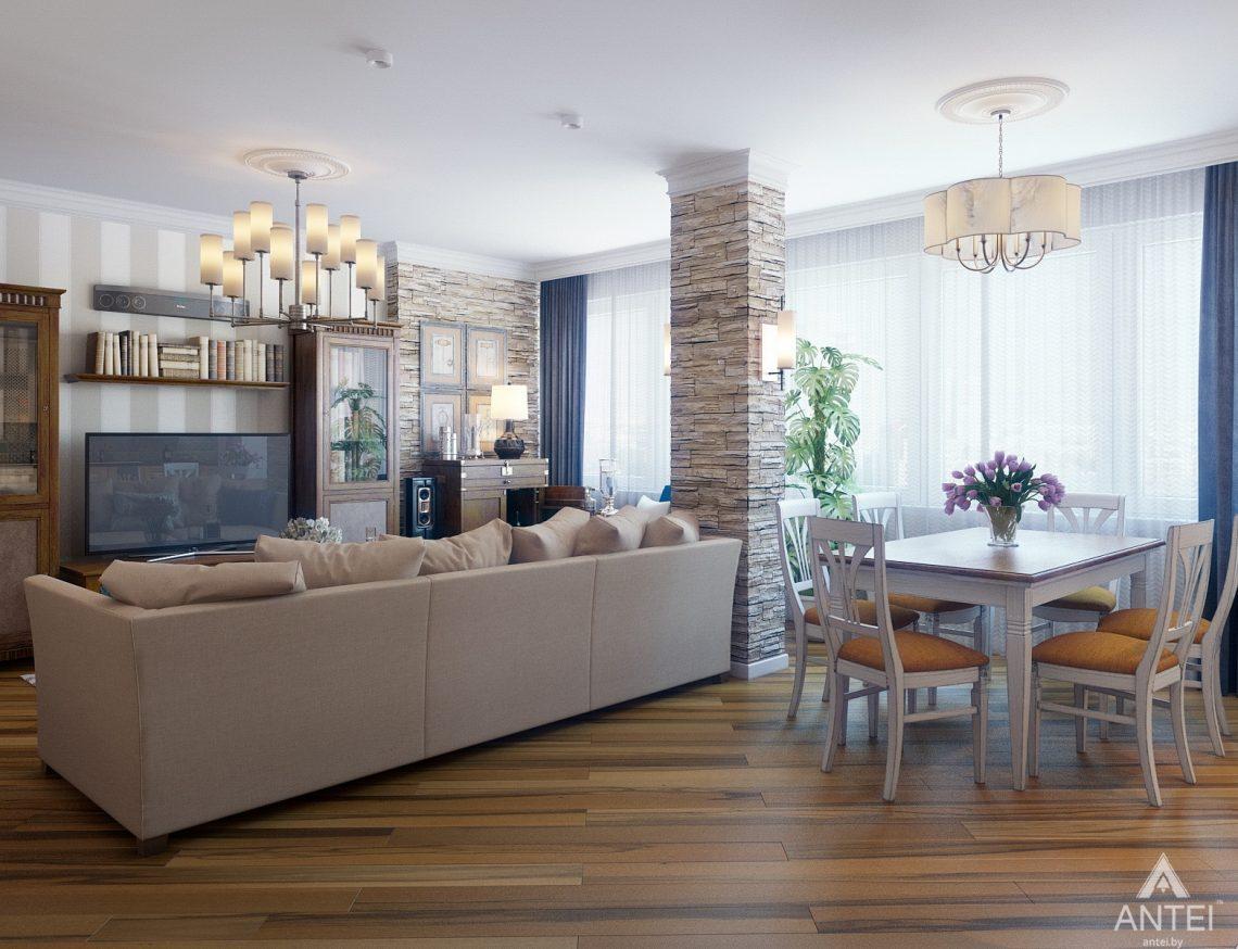 Дизайн интерьера квартиры в Минске, р-н Лебяжий - гостиная фото №3