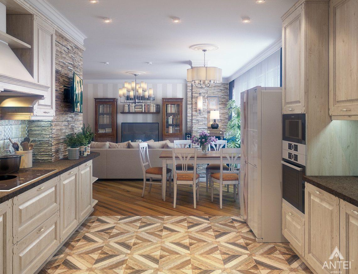 Дизайн интерьера квартиры в Минске, р-н Лебяжий - кухня фото №2