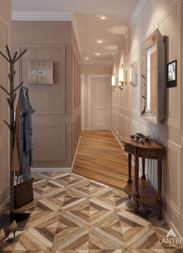 Дизайн интерьера квартиры в Минске, р-н Лебяжий - прихожая фото №1