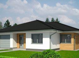Проект одноэтажного дома c террасой «КО-168»