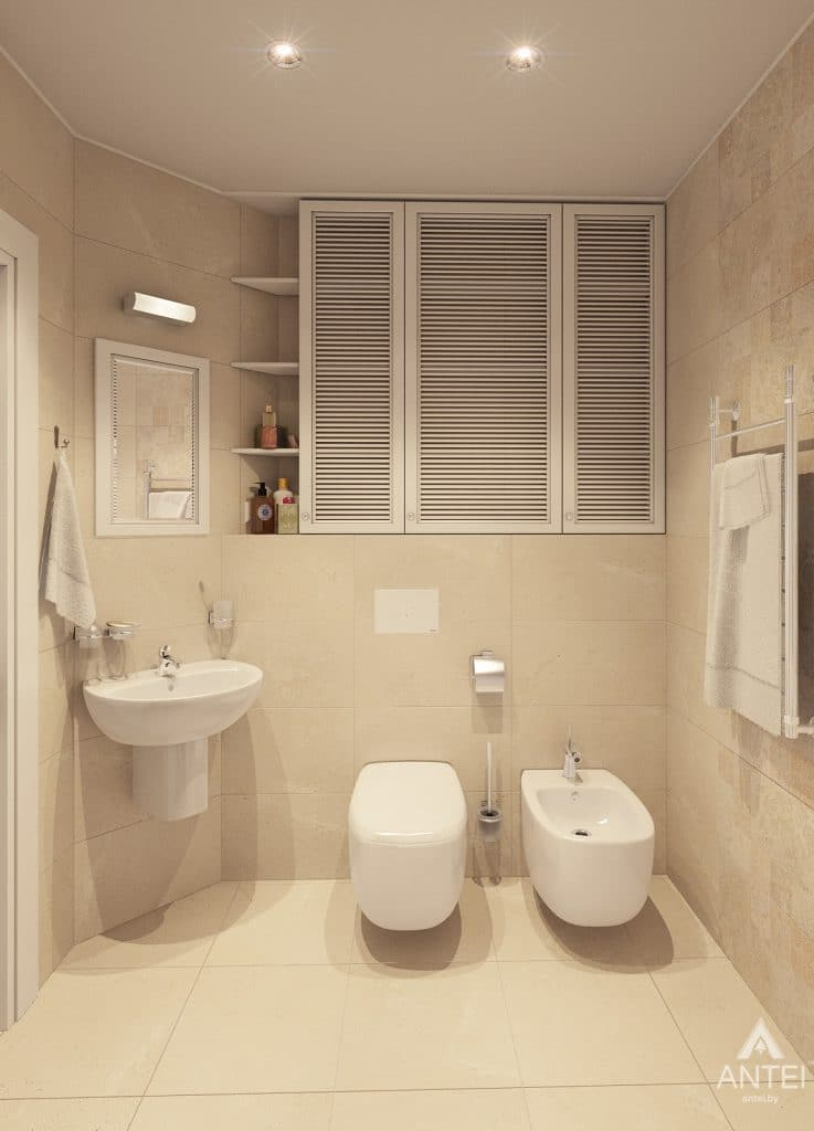 Дизайн интерьера квартиры в Минске, р-н Лебяжий - санузел фото №3