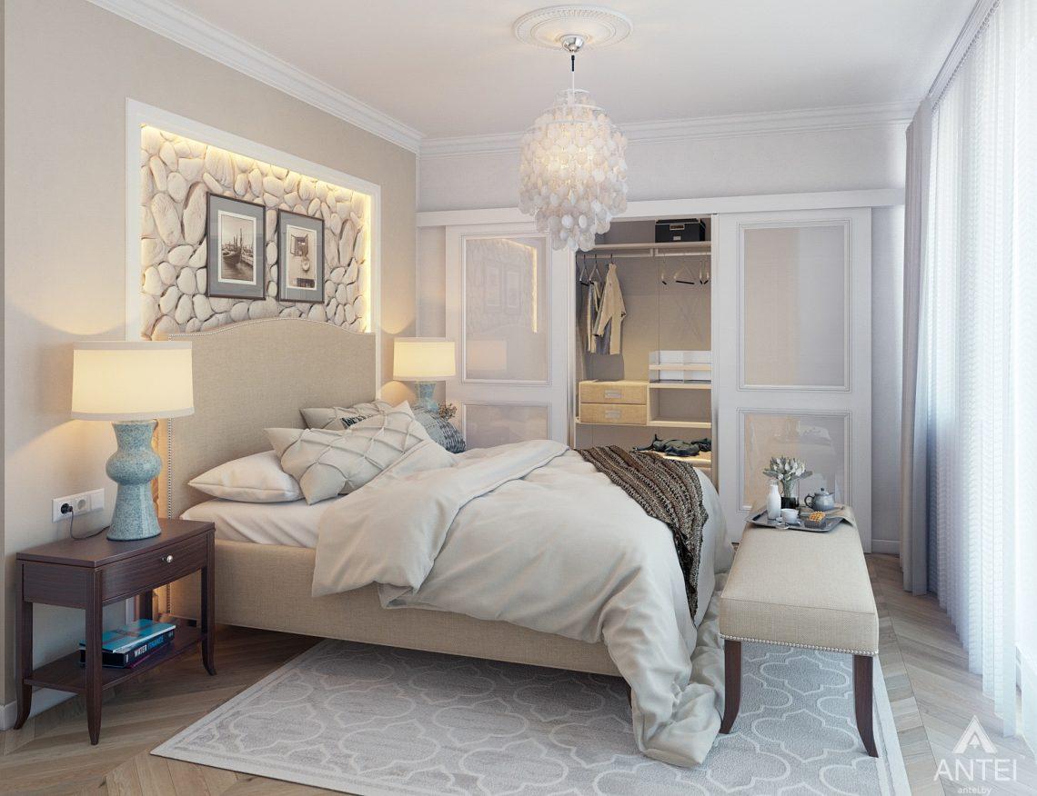 Дизайн интерьера квартиры в Минске, р-н Лебяжий - спальня фото №1