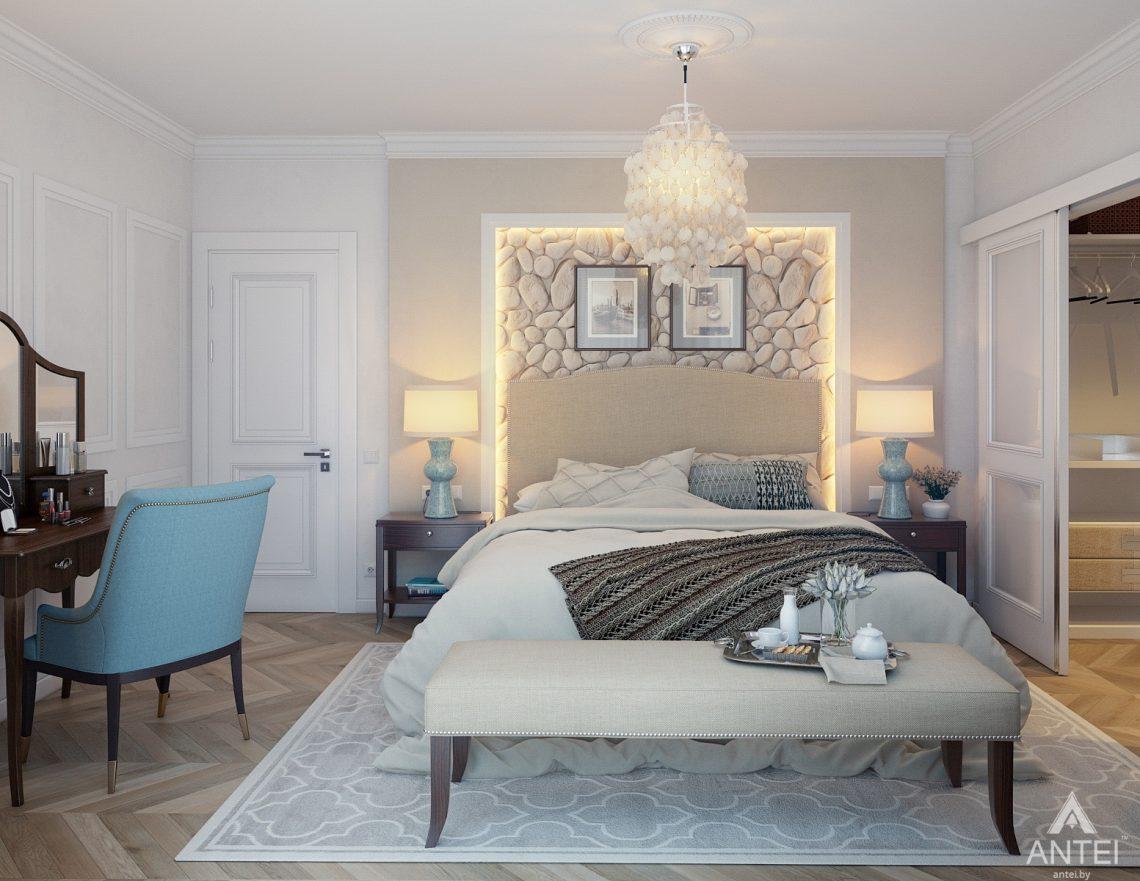 Дизайн интерьера квартиры в Минске, р-н Лебяжий - спальня фото №2