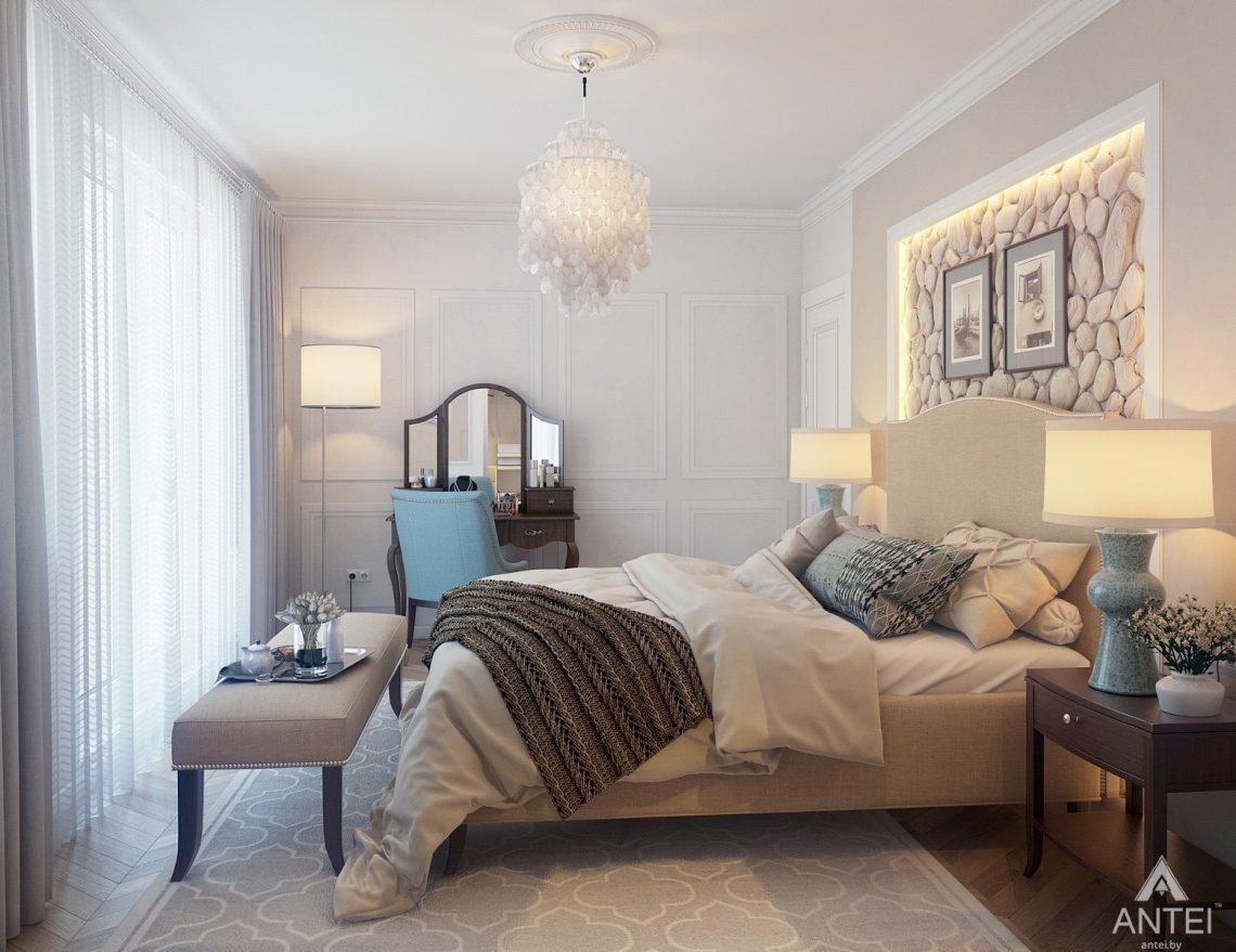 Дизайн интерьера квартиры в Минске, р-н Лебяжий - спальня фото №3