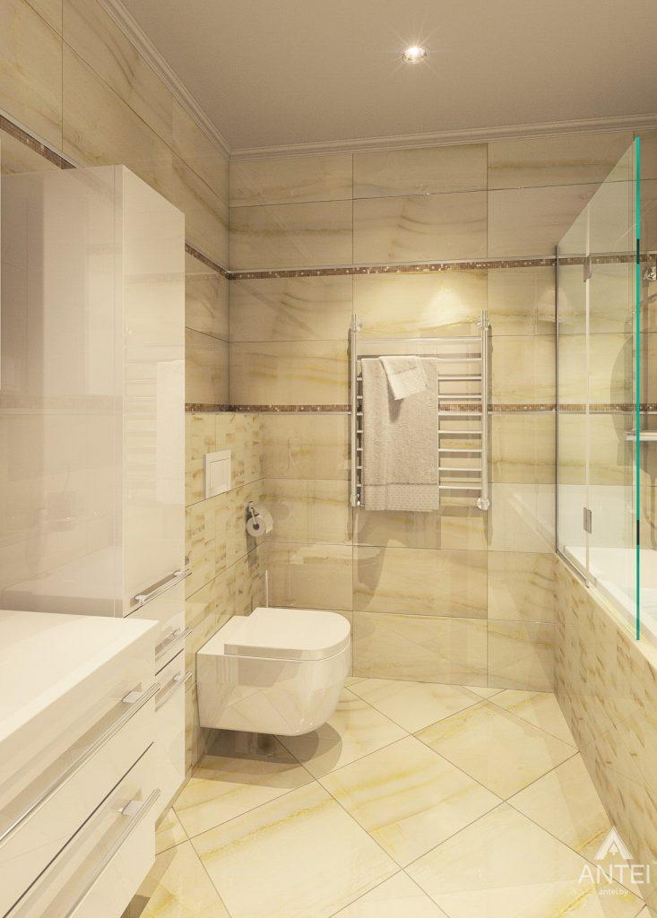 Дизайн интерьера квартиры в Минске, р-н Лебяжий - ванная фото №1