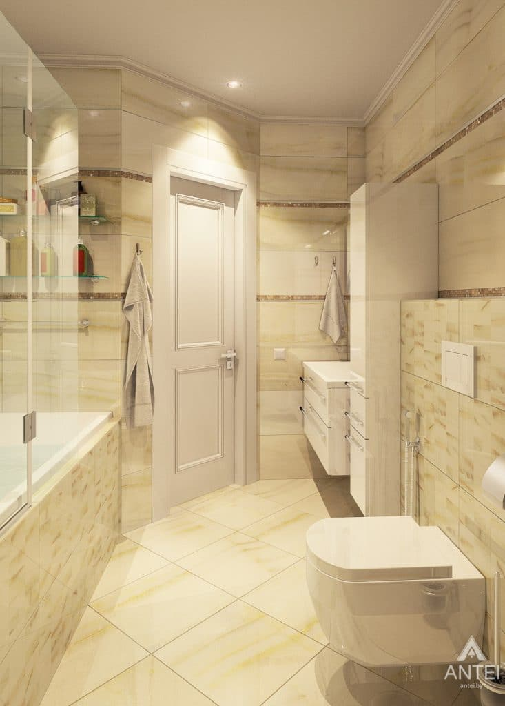 Дизайн интерьера квартиры в Минске, р-н Лебяжий - ванная фото №2
