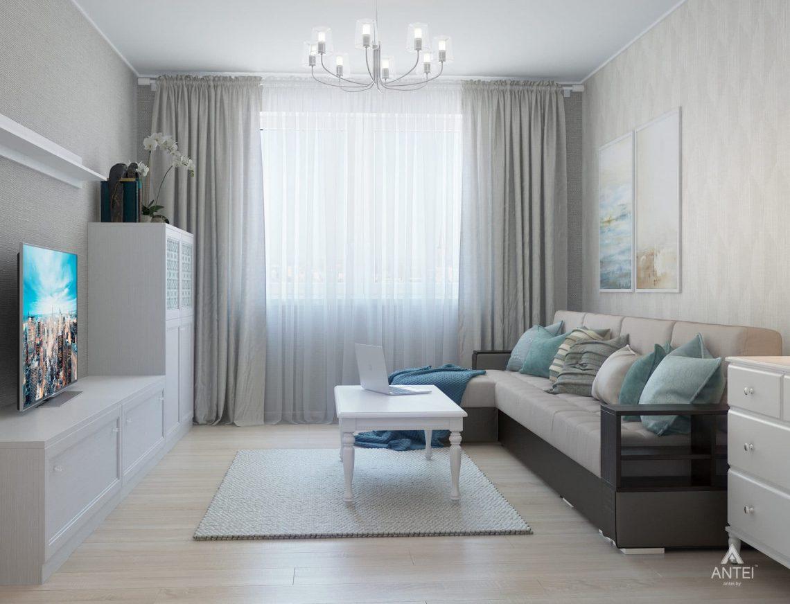 Дизайн интерьера квартиры в Гомеле, ул. Барыкина - гостиная фото №2
