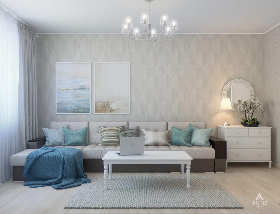 Дизайн интерьера квартиры в Гомеле, ул. Барыкина - гостиная фото №1