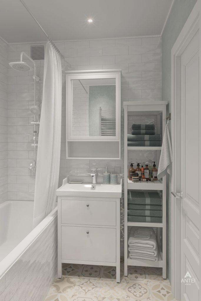 Дизайн интерьера квартиры в Гомеле, ул. Барыкина - ванная фото №1