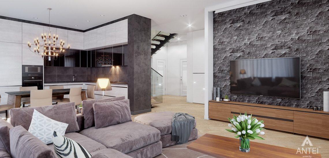 Дизайн интерьера дома в п. Романовичи - кухня-гостиная фото №2