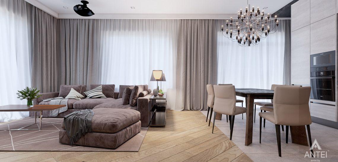Дизайн интерьера дома в п. Романовичи - кухня-гостиная фото №3