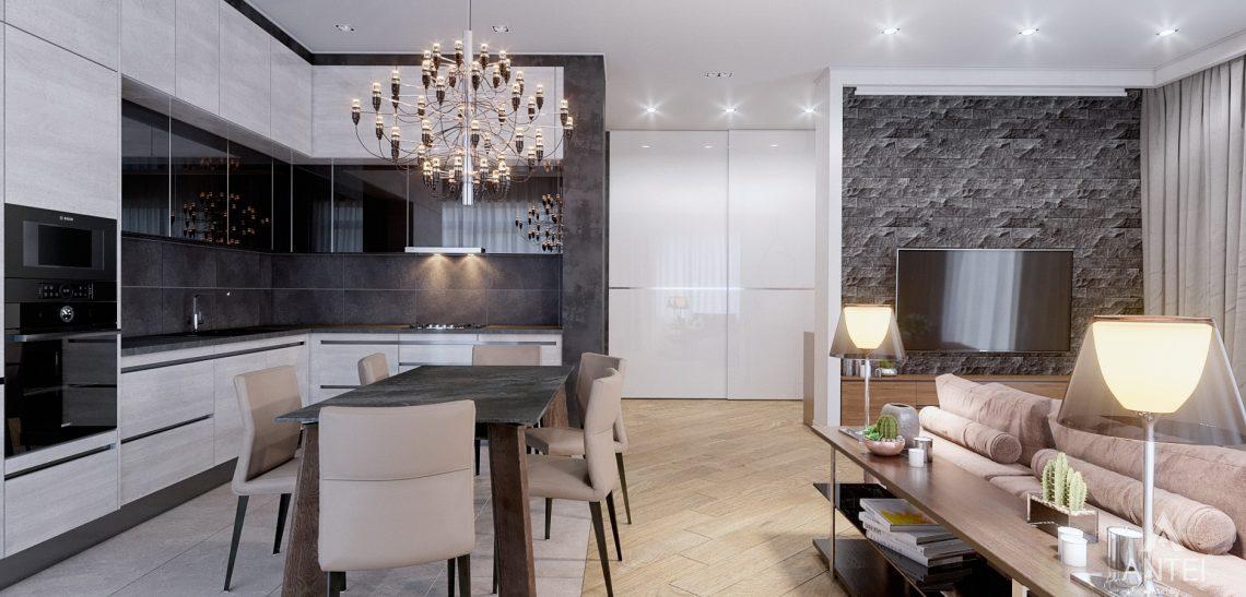 Дизайн интерьера дома в п. Романовичи - кухня-гостиная фото №4