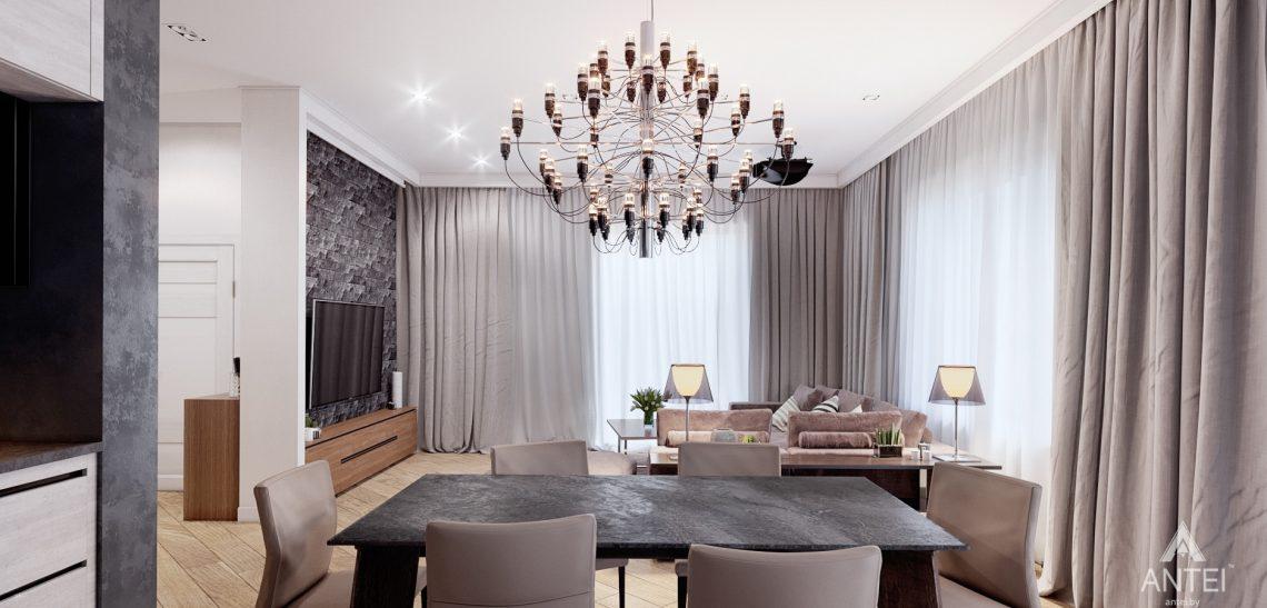 Дизайн интерьера дома в п. Романовичи - кухня-гостиная фото №5