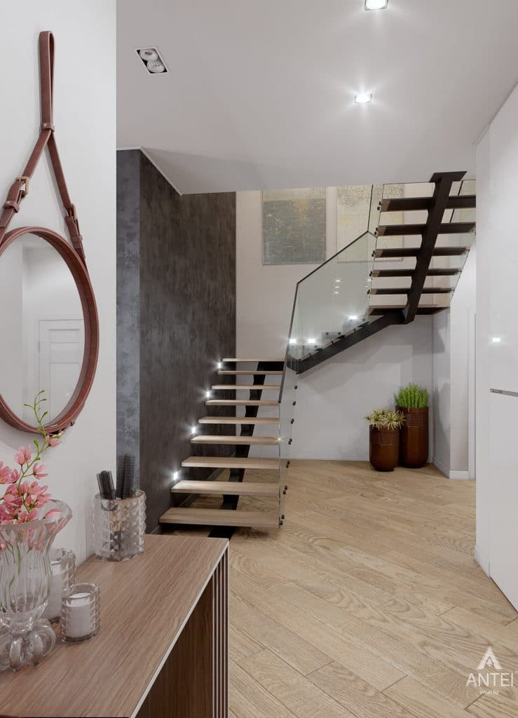 Дизайн интерьера дома в п. Романовичи - прихожая фото №2