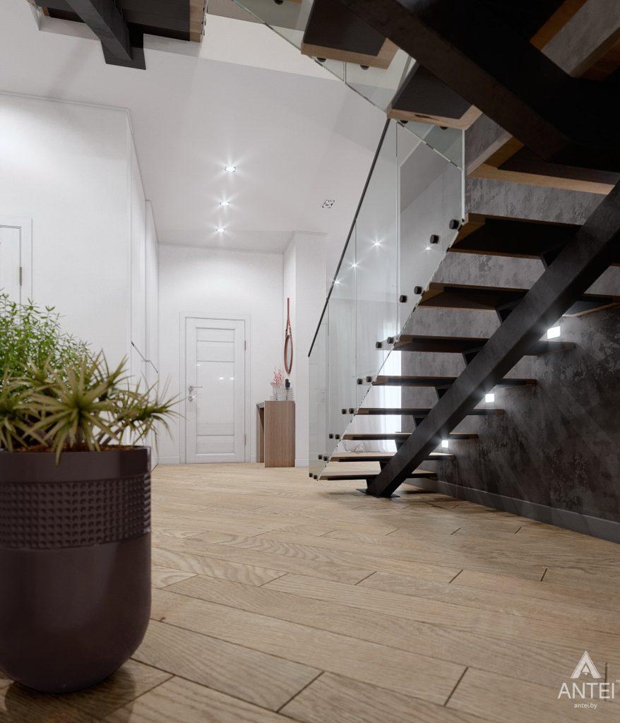 Дизайн интерьера дома в п. Романовичи - прихожая фото №3