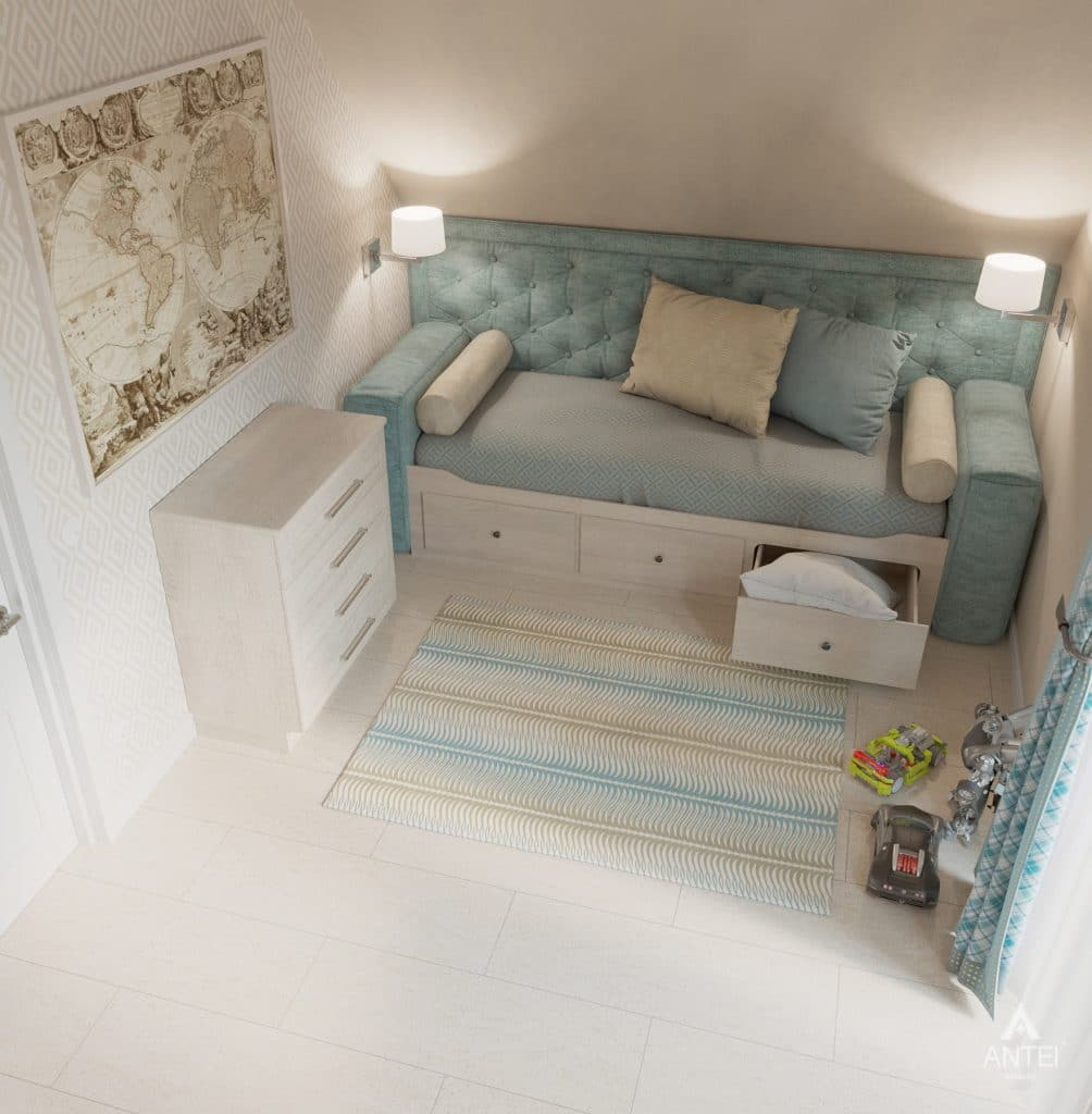 Дизайн интерьера дома в мкр-не Романовичи - детская спальня фото №4