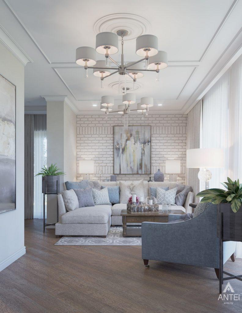 Дизайн интерьера дома в мкр-не Романовичи - гостиная фото №1