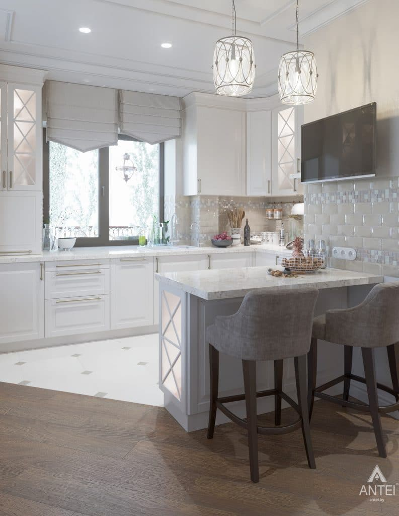 Дизайн интерьера дома в мкр-не Романовичи - кухня фото №3