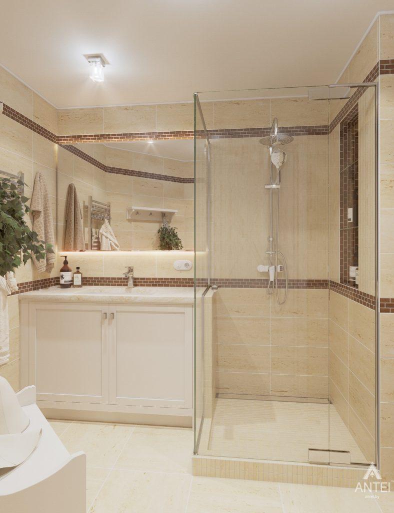 Дизайн интерьера дома в мкр-не Романовичи - санузел-сауна фото №1