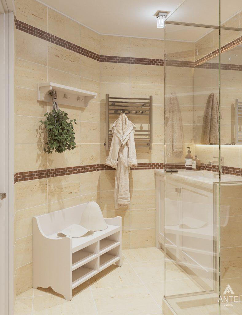 Дизайн интерьера дома в мкр-не Романовичи - санузел-сауна фото №2
