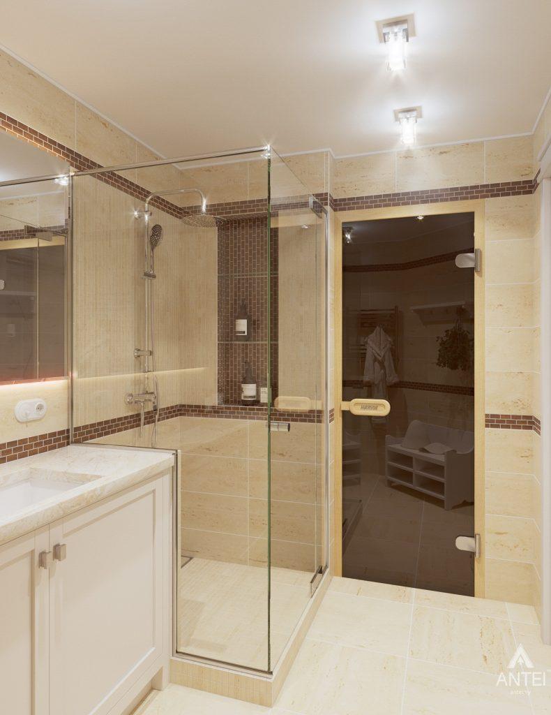 Дизайн интерьера дома в мкр-не Романовичи - санузел-сауна фото №3