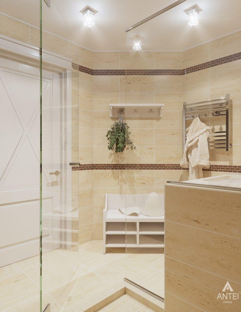 Дизайн интерьера дома в мкр-не Романовичи - санузел-сауна фото №5