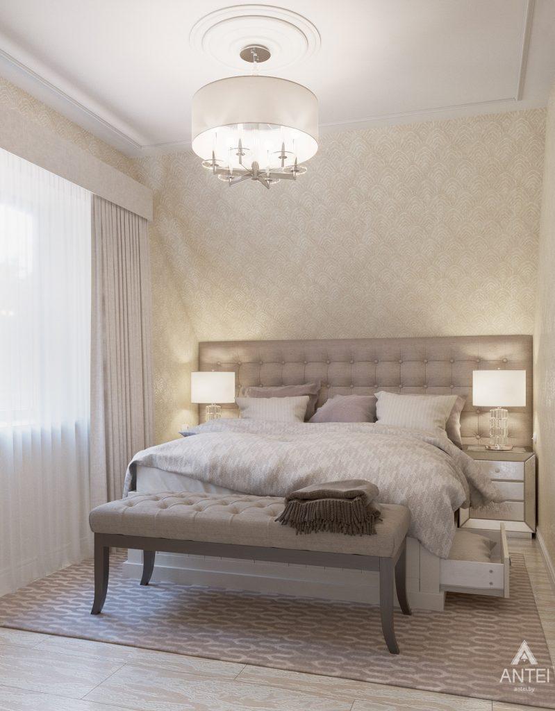 Дизайн интерьера дома в мкр-не Романовичи - спальня фото №1