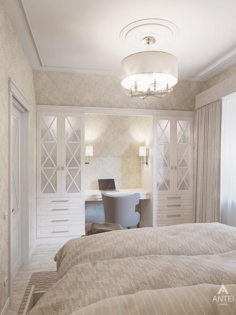 Дизайн интерьера дома в мкр-не Романовичи - спальня фото №2