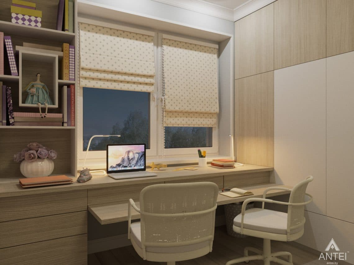 Дизайн интерьера трехкомнатной квартиры в Гомеле, ул. Свиридова - детская комната фото №6