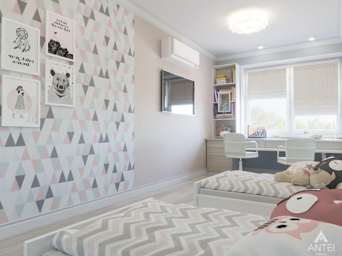Дизайн интерьера трехкомнатной квартиры в Гомеле, ул. Свиридова - детская комната фото №4