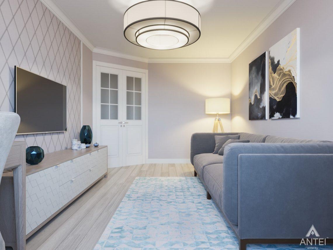 Дизайн интерьера трехкомнатной квартиры в Гомеле, ул. Свиридова - гостиная фото №4
