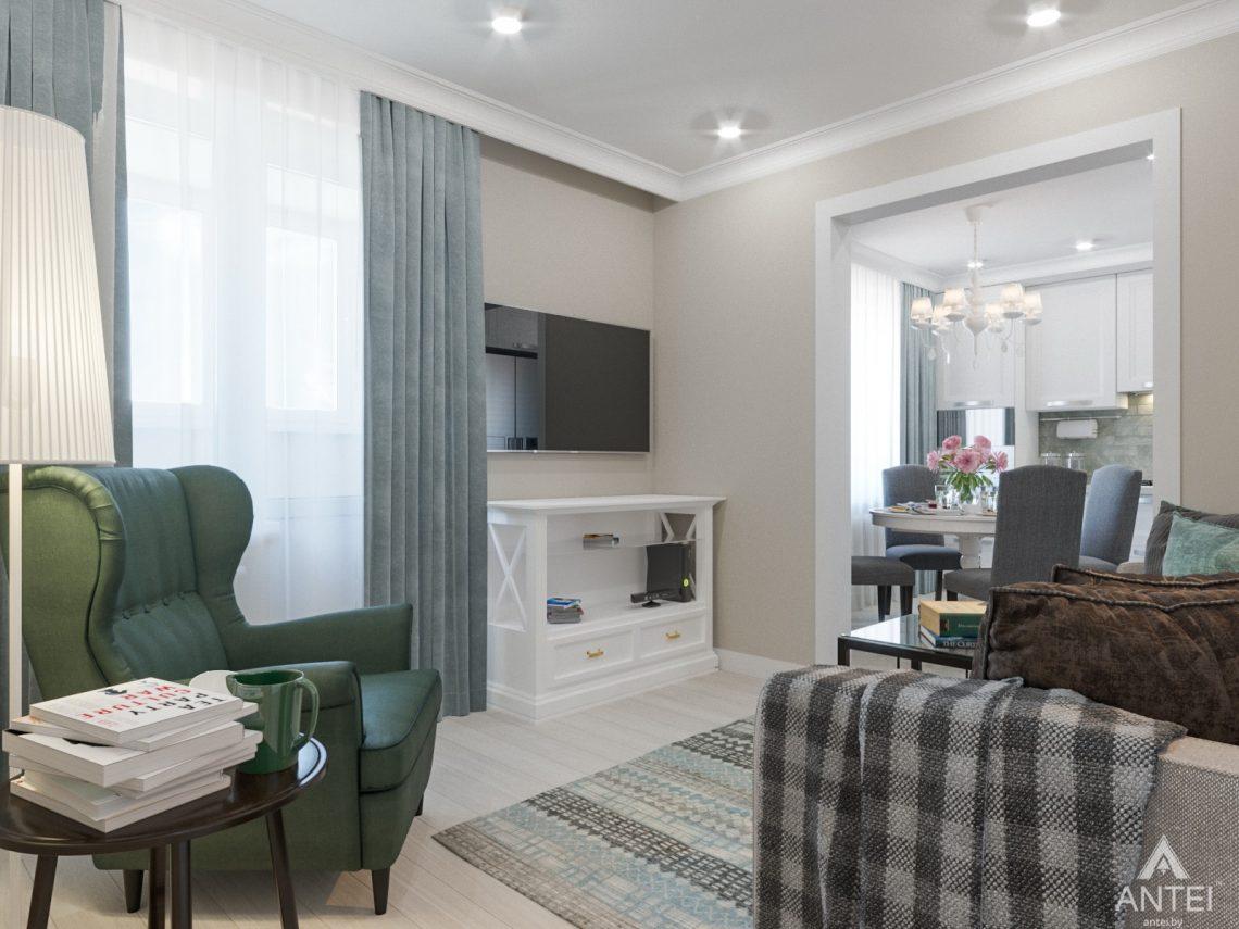 Дизайн интерьера трехкомнатной квартиры в Гомеле, ул. Свиридова - кухня фото №6