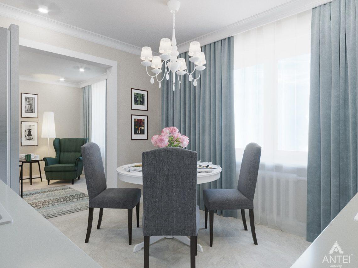 Дизайн интерьера трехкомнатной квартиры в Гомеле, ул. Свиридова - кухня фото №3