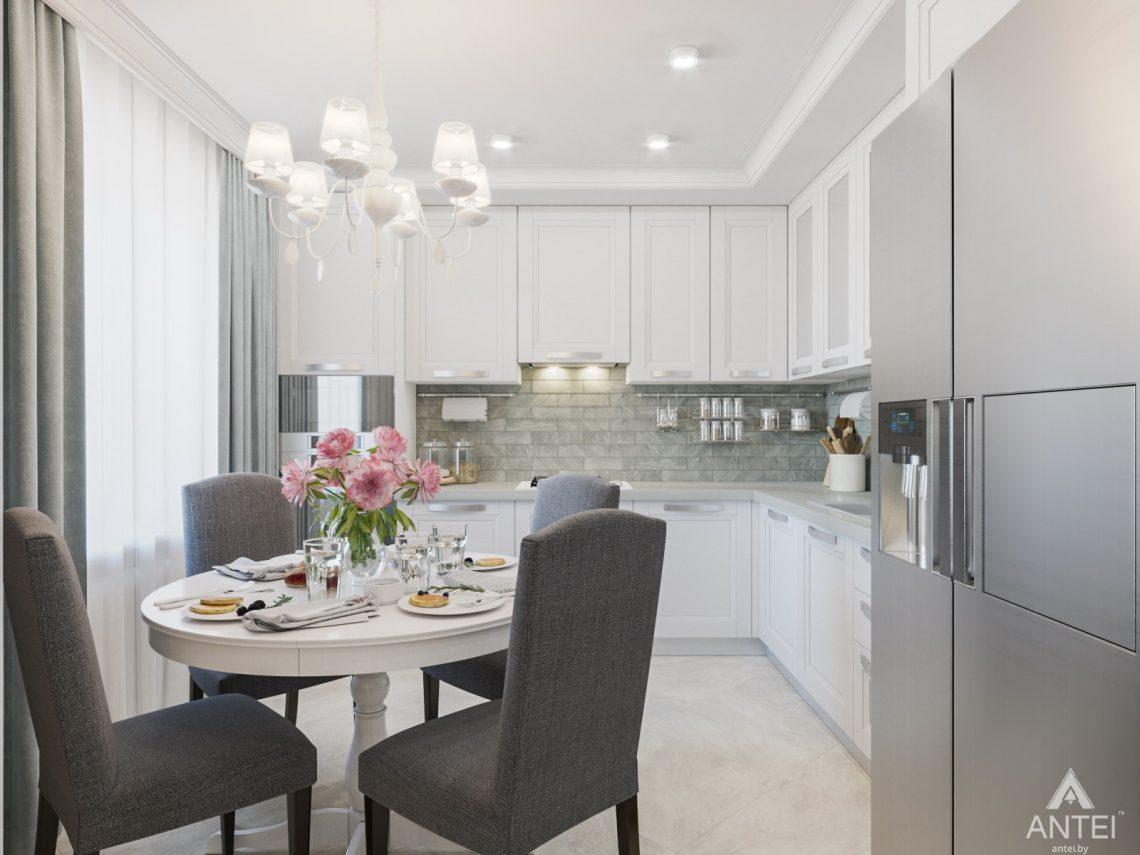 Дизайн интерьера трехкомнатной квартиры в Гомеле, ул. Свиридова - кухня фото №1