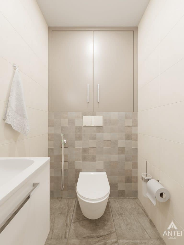 Дизайн интерьера трехкомнатной квартиры в Гомеле, ул. Свиридова - санузел фото №2